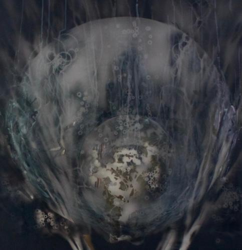 Artêria Carolline Auclair Perle des profondeurs II (sans lumière) Boite lumineuse, médiums mixtes 30x30 in 76x76 cm 2016